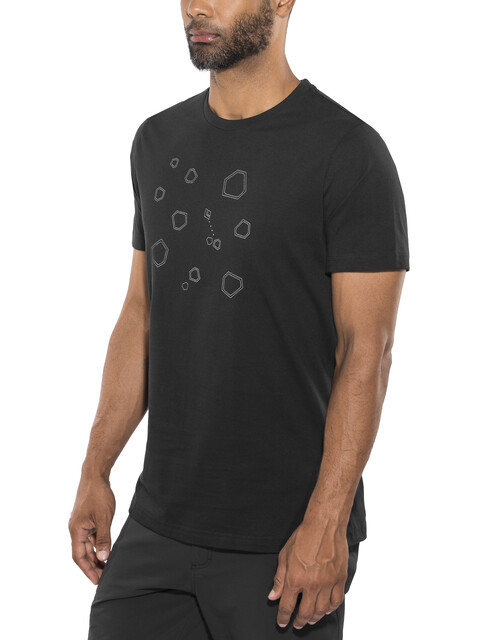 Black Diamond Hexteroid t-shirt Heren zwart